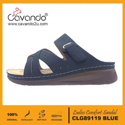 Cavando Ladies Comfort Sandals - CLG89119/CLG89120/CLG89121 (Blue,Brown,Maroon)
